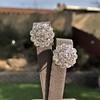 4.89ctw Vintage Cluster Old European Cut Diamond Earrings 6