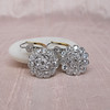 5.54ctw Edwardian Old European Cut Diamond Cluster Earrings 6