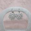 5.54ctw Edwardian Old European Cut Diamond Cluster Earrings 2