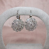 5.54ctw Edwardian Old European Cut Diamond Cluster Earrings 5