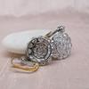 5.54ctw Edwardian Old European Cut Diamond Cluster Earrings 1