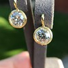 6.09ctw Old Euoprean Cut Diamond Bezel Earrings 3