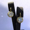 6.09ctw Old Euoprean Cut Diamond Bezel Earrings 10