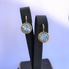 6.09ctw Old Euoprean Cut Diamond Bezel Earrings 12