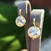 6.09ctw Old Euoprean Cut Diamond Bezel Earrings 6