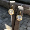 6.09ctw Old Euoprean Cut Diamond Bezel Earrings 2