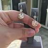 7.16ctw Old European Cut Diamond Double Drop Earrings 4