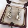 7.16ctw Old European Cut Diamond Double Drop Earrings 15