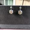7.16ctw Old European Cut Diamond Double Drop Earrings 3