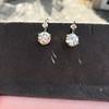 7.16ctw Old European Cut Diamond Double Drop Earrings 10