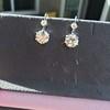 7.16ctw Old European Cut Diamond Double Drop Earrings 11