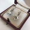 7.16ctw Old European Cut Diamond Double Drop Earrings 2