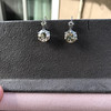7.16ctw Old European Cut Diamond Double Drop Earrings 12