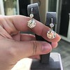 7.16ctw Old European Cut Diamond Double Drop Earrings 1