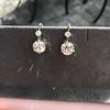 7.16ctw Old European Cut Diamond Double Drop Earrings 13