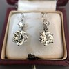 7.16ctw Old European Cut Diamond Double Drop Earrings 14