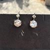 7.16ctw Old European Cut Diamond Double Drop Earrings 9
