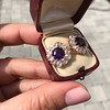 7.30ctw Victorian Amethyst and Old Mine Cut Diamond Cluster Earrings 11
