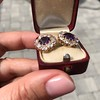 7.30ctw Victorian Amethyst and Old Mine Cut Diamond Cluster Earrings 13