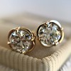 .74ctw Transitional Cut Diamond Earrings, Yellow Gold 10