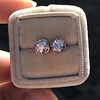 .74ctw Transitional Cut Diamond Earrings, Yellow Gold 15