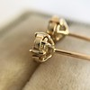 .74ctw Transitional Cut Diamond Earrings, Yellow Gold 2