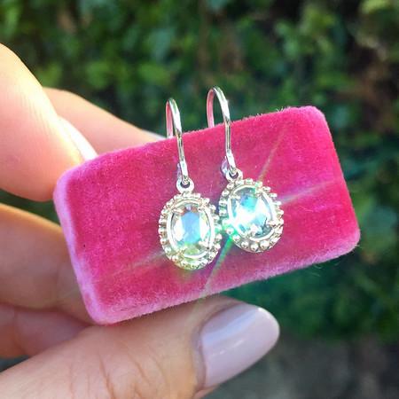 .84ctw Rose Cut Diamond Dangle Earrings, Rose Gold