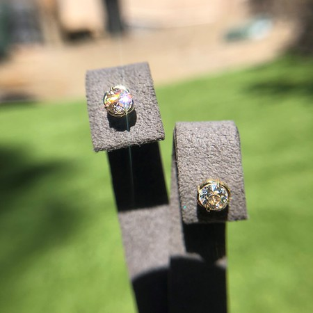 .91ctw Old European Cut Diamond Clover Earrings