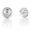 .99ctw Pave Button Diamond Stud Earrings 0