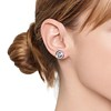 .99ctw Pave Button Diamond Stud Earrings 1