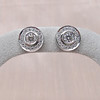 .99ctw Pave Button Diamond Stud Earrings 6