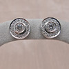 .99ctw Pave Button Diamond Stud Earrings 4