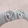 .99ctw Pave Button Diamond Stud Earrings 3