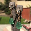 Antique Emerald and Diamond Day to Night Earrings 19