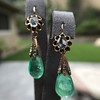 Antique Emerald and Diamond Day to Night Earrings 4