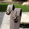 Antique Emerald and Diamond Day to Night Earrings 5