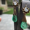 Antique Emerald and Diamond Day to Night Earrings 13
