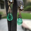 Antique Emerald and Diamond Day to Night Earrings 14