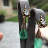 Antique Emerald and Diamond Day to Night Earrings 12