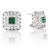 Art-Deco Inspired Tsavorite and Diamond Earrings 0