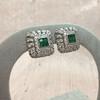 Art-Deco Inspired Tsavorite and Diamond Earrings 4