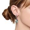 Diamond and Aquamarine Dangle Earrings 1