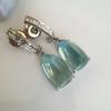 Diamond and Aquamarine Dangle Earrings 12