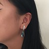 Diamond and Aquamarine Dangle Earrings 23