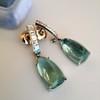 Diamond and Aquamarine Dangle Earrings 2