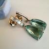 Diamond and Aquamarine Dangle Earrings 8