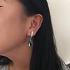 Diamond and Aquamarine Dangle Earrings 20