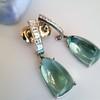 Diamond and Aquamarine Dangle Earrings 13