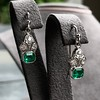 2.00ctw+ Emerald and Diamond Art Deco Conversion Earrings 3