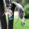 2.00ctw+ Emerald and Diamond Art Deco Conversion Earrings 12